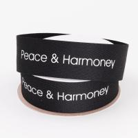 China Screen Printed Cotton Grosgrain Ribbon Customized Size For Decoration wholesale