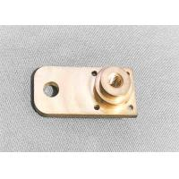 China Brass High Precision Machined Parts Shaft Support Block Long Lifespan wholesale