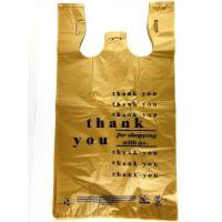 China Large Plastic Grocery Reusable T Shirts Carry-out Bag  , Black Colour , HDPE material wholesale
