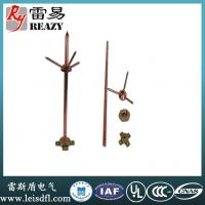 China Pure Copper three-fork lightning rod(Rod diameter:14mm,16mm,20mm  Length:1200mm,1500mm,2000mm,2500mm) wholesale
