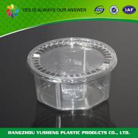 China Round disposable clear plastic storage container for different foods on sale