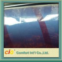 China Packaging PVC Transparent Film , Blue Chenille Style PVC Clear Sheet on sale