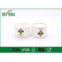 China 6 Oz Size 240 ML Disposable Eco - friendly White Paper Ice Cream Cups Impermeable wholesale