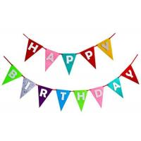 China Decorative Pennant String Flags Eco - Friendly Birthday Theme Colorful For Party wholesale