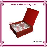 China Square hard cardboard red color keepsake packaging boxes with silk mount wholesale
