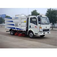 China Euro II RHD 2 Axles Road Sweeper Truck Water Saving Wet Type Street Cleaning Machine wholesale
