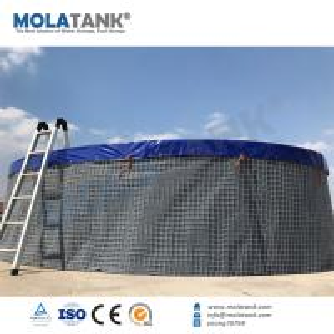 China Molatank PVC Tarpaulin Flexible Fish Breeding Farming Tank with whole Accessories wholesale