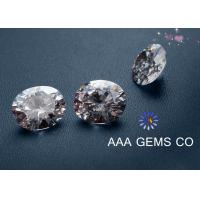 China Necklaces 5mm AAA GEMS Sythetic Stones Colorless Moissanite With Round Shape Diamone wholesale