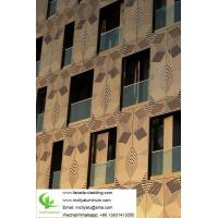 China Gold Color Aluminum Facade Panels , Aluminium Facade Cladding Pvdf Painted on sale