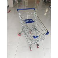 Quality Steel Supermarket Grocery Shopping Cart With Zinc Plating Clear Powder Coating for sale