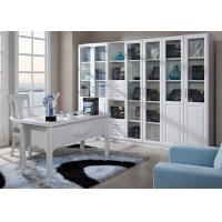 China Glass / PVC Veneer Modern Home Office Furniture Study Table And Chair For Adults wholesale