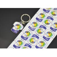 China Keychian 3D Domed Labels Polydome Clothes Shape Key Ring Epoxy Resin Stickers wholesale