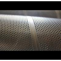 Buy cheap Surface Polished Perforated Metal Tube , 316L 409 Perforated Round Tubing from wholesalers