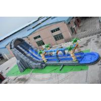 China 27ft high cheap giant inflatable water slide for adult double slip n slide for sale wholesale