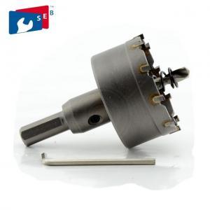 China 35 Mm Sheet Metal Hole Saw Cutter Heat Treatment Tri Flat Shank Long Life Span wholesale