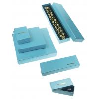 China 157g + 800g Jewelry Recycled Cardboard Gift Boxes For Necklaces , Blue Luxury Gift Boxes wholesale