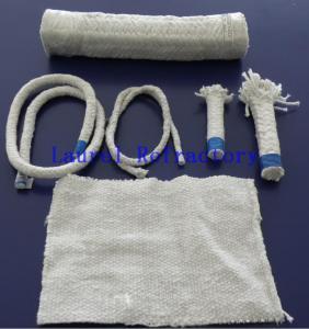 China Boiler Insulation Ceramic Fiber Refractory Textiles Oil / Water Vapor Resistent wholesale