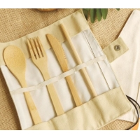 China Disposable Bamboo Knife Fork Spoon Cutlery Sets For Western Steak Exporting wholesale