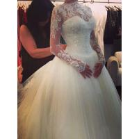 China NEW!!! Ball gown Long sleeves wedding dress Zip back Bridal gown #14077bn42 wholesale