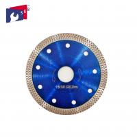 China 115 X 10 Mm Diamond Saw Blades Blue Color Polish Or Painted Finishing wholesale