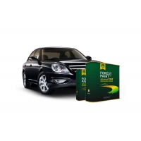 China Quick Drying 2K Solid Auto Body Metal Filler Deep Emerald Green Flat Black wholesale