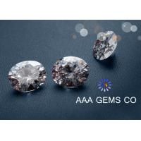 China Earrings / Rings / Necklaces White Moissanite Gemstone For Moissanite Jewelry Stores wholesale
