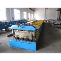 China Galvanized Steel Sheet Floor Deck Roll Forming Machine 12-16 m / min Processing Speed wholesale
