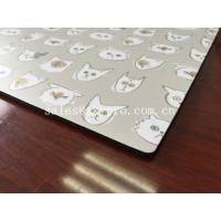 China Vinyl Lamination natural rubber sheet Mouse Pad Customized Logo Printing on Top wholesale