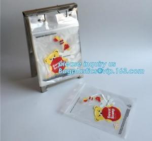 China food storage wicketed ldpe clear plastic zip lock bag with print, FDA Custom Food Grade Wicket Plastic Ziplock Bag, bage wholesale