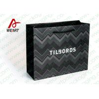 Shirt Shop Black Custom Branded Paper Bags With Logo Matte Lamination Suface Manufactures