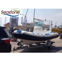 China RIB Rigid Hulled Inflatable Boat With 85 Horse Power Engine And Hydraulic Steering System on sale