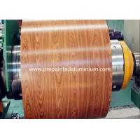 China Wooden Pattern Prepainted Galvanized Steel Coil For Roller Shutter Door wholesale