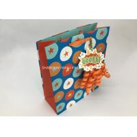 China Kids Mini Extra Large Xmas Gift Bags , Blue / Brown Unique Children