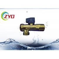 China Low Pressure Plumbing Angle Valve , Iron / Brass Triangle Valve S.S Filter Net wholesale