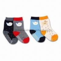 China 100% Cotton Chicken Kids Socks with Non-slip Features and Terry wholesale