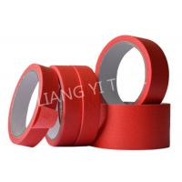 China Red Crepe Paper Paper Masking Tape Strong Holding Power / No Adhesive Residue wholesale
