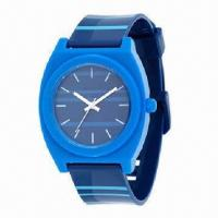 China Plastic Watch, Case and Strap, 3ATM Waterproof Function wholesale