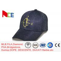 China 6 panels Embroidery baseball caps Glitter powder With adjustable wholesale