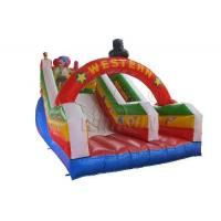 China Commercial Blow Up Water Slides , Western Theme Large Inflatable Water Slide on sale