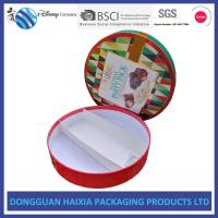 China Round Custom Printed Cardboard Boxes , Printed Packaging Boxes UV Coating wholesale