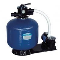 China Swimming Pool Top Mount Plastic Body + Fiberglass Outer Sand Filters + Pump Set wholesale