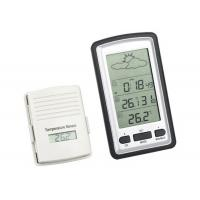 China Wireless Weather Station Digital LCD Home Thermometer In/Outdoor Temperature Meter Alarm Clock With Remote Sensor Green wholesale