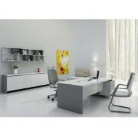 China Wall Mounted Display Shelves , Contemporary Executive Desk High Gloss Painting wholesale