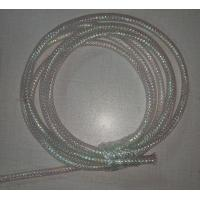 White Color Braided Wire Mesh Sleeve Fire Resistance For Computer Electric Power Lines