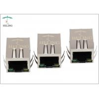 China EMI Tab Spring PoE Plus Integrated Magnetics RJ45 Jack Connector With LED wholesale