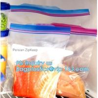 China double track reclosable zip lock bag, double-track zipper closure, slide seal reclosable poly bags, package double track on sale
