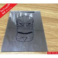 China Custom Design Silver Mirror Acrylic Sheet Laser Engraved Mirror Skull Patterns wholesale