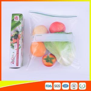 Custom Freezer Zip Lock Bags Anti Moisture , Resealable Zipper Food Storage Bags