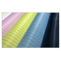 China 5mm Strip Esd Clothing Material Grid / Streak Cleanroom Fabric Carbon Fiber on sale