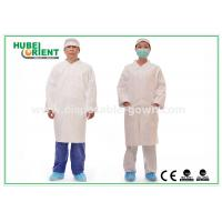 Buy cheap Tyvek disposable white lab coats , medical protective clothing Korean Collar and from wholesalers